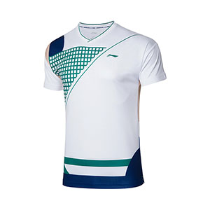 Men Badminton T-shirt 2021 Li-Ning Quick-drying Cool Badminton T-shirt Li ning AAYR201