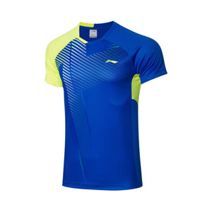 Men Badminton T-shirt 2021 Li-Ning Quick-drying Cool Badminton T-shirt Li ning AAYR199-1-2-3