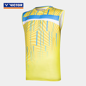 2021 Badminton Jersey Slim Fit VICTOR Training Badminton Round neck sleeveless T-shirt VICTOR T-10004