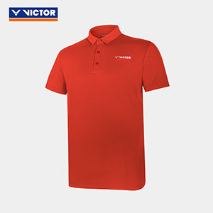 2021 VICTOR Badminton Stand-up collar POLO shirt T-shirt Badminton VICTOR S-10026