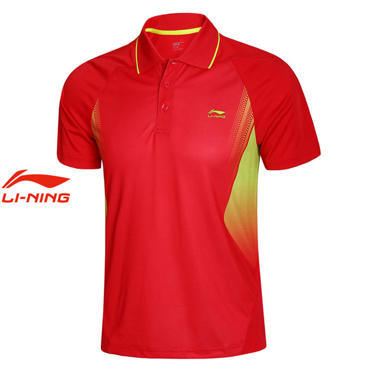 Men Table tennis Badminton T-shirt Lining Indoor Tournament Jersey Li-ning AAYG237-2