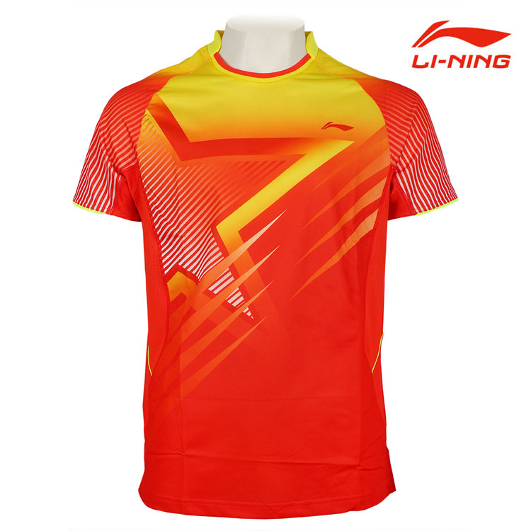 Li-Ning Badminton T-shirt August 2014 Men Breathable Absorbent Badminton Jerseys Li ning AAYJ297