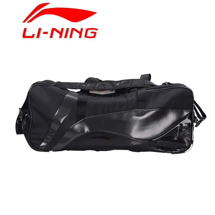 Lining Badminton Bag 2014 Li-Ning Tournament 9 Racket Black Badminton Bag ABJJ112-1