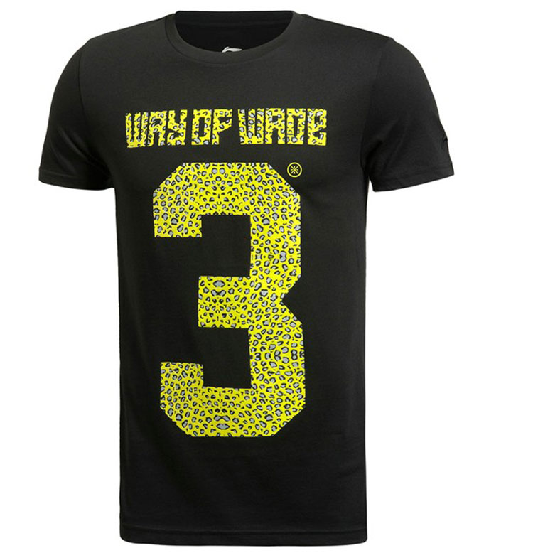 Lining 2015 Dwyane Tyrone Wade men Short-sleeved cultural shirt ,Li-ning AHSJ589-1-2