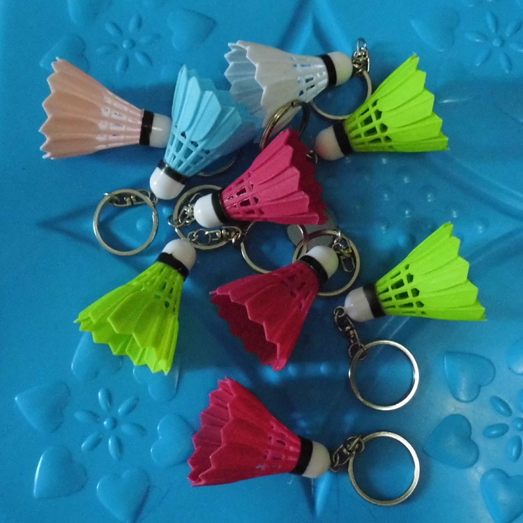 Badminton keychain Plastic Exquisite Pendant shuttlecock and racket Accessories