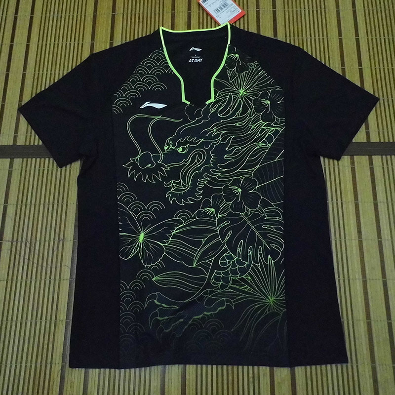 "2017 Li-Ning PingPong World Championships Table Tennis Men Tshirt Behind no ""CHN"" Lining AAYM081"