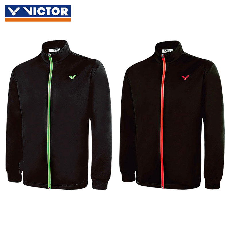 Victor Badminton Jacket 2017 Knit Zippers Sports Badminton Jacket Victor J-75609 G/O