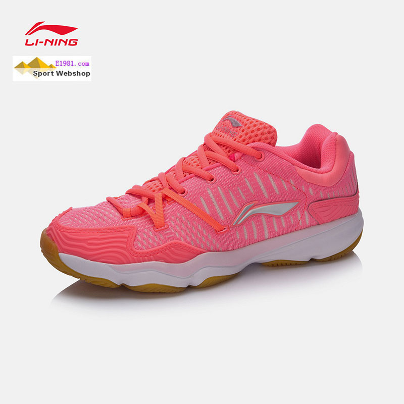 Lady Badminton Shoes 2017 Li ning Double Jacquard Women Badminton Shoes LiNing AYTM078