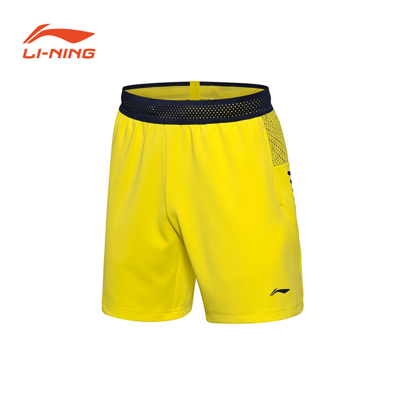Men Badminton Shorts: 2018 Li-Ning Badminton Tournament Shorts,Li-Ning AAPN155